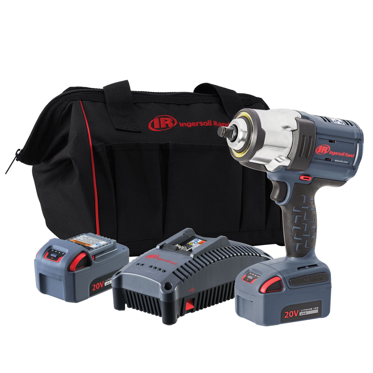 Ingersoll Rand ½½ IQV20 Impact Wrench, 2 Battery Kit