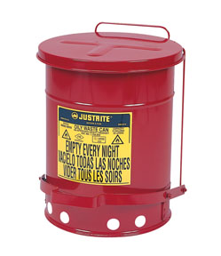 Justrite Manufacturing Company 6-Gallon Oily Waste Can for General Use