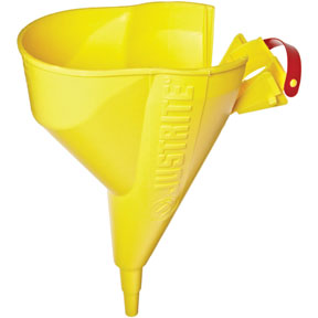 Justrite Manufacturing Company Funnel For Steel Type I Safety Cans Only, For Sizes 1 Gallon And Above, Polyethylene, Yellow
