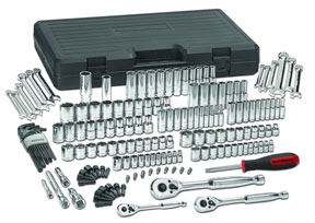 GearWrench 165 pc. SAE/Metric 6 & 12 Pt. Mechanics Tool Set Multi Drive