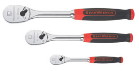 GearWrench 3-Piece Cushion Grip 84 Tooth Ratchet Set