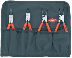 Knipex Snap Ring Pliers Set w/ Forged Tips, 4Pc