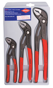 Knipex 3 Pc. Cobra Water Pump Pliers Set