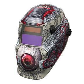 Lincoln Electric 600S Variable Shade ADF Helmet, Bloodshot