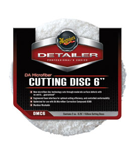 "Meguiar's 6"" DA Microfiber Cutting Disc, 2 Pack"
