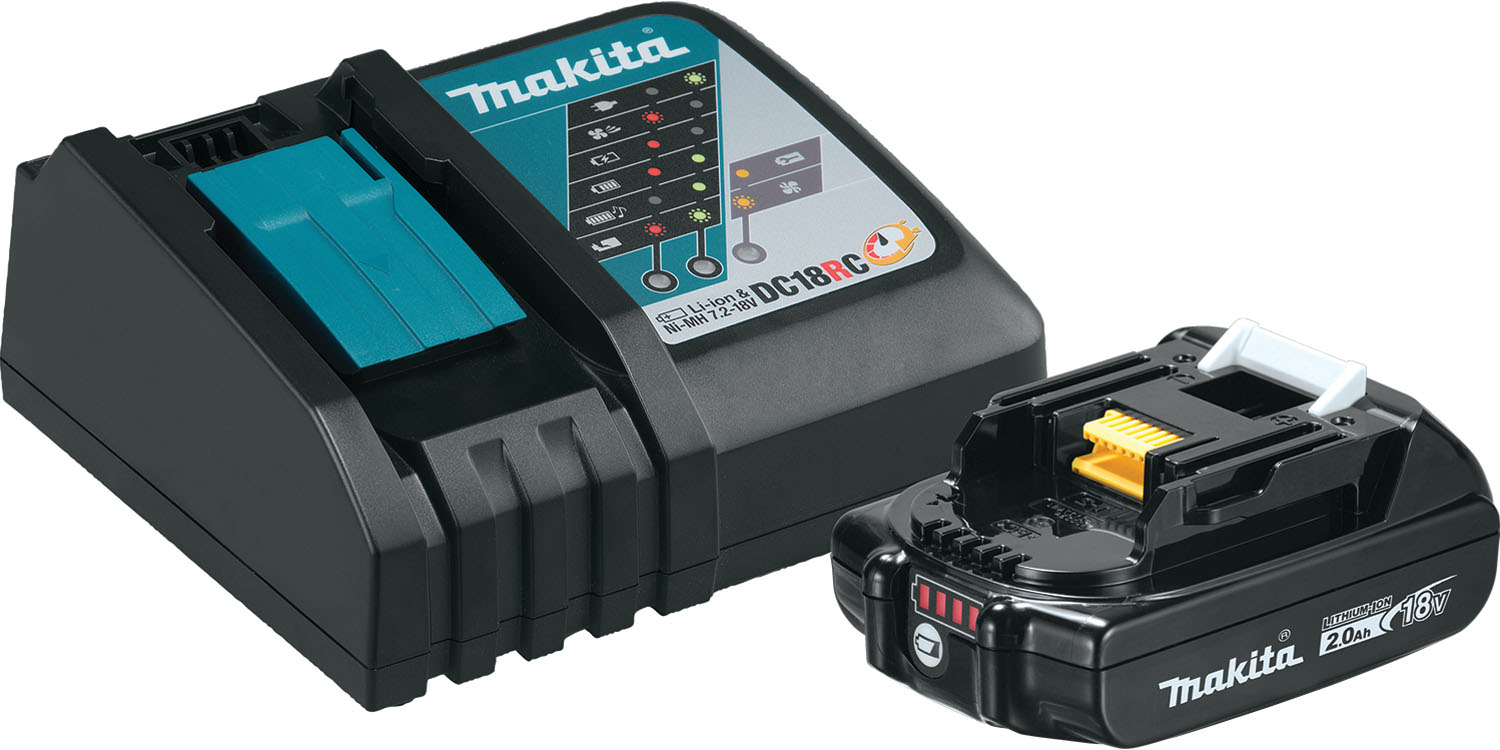 Makita Compact Lithium-Ion Battery and Charger Starter Pack, 18V