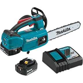 "Makita 18V LXT® Lithium?Ion Brushless Cordless 10"" Top Handle Chain Saw Kit (5.0Ah)"
