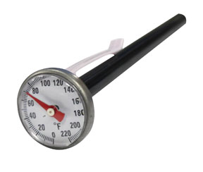 "Mastercool 1"" Dial Analog Pocket Thermometer"