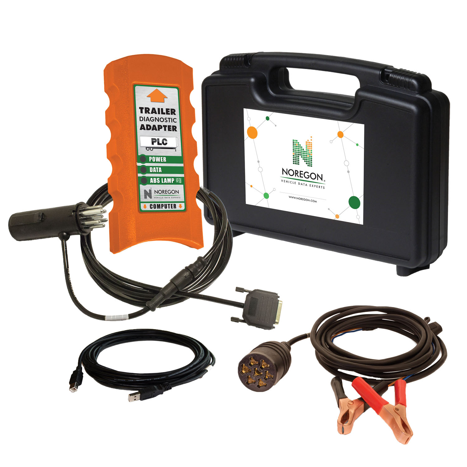Noregon Noregon Trailer Diagnostic Adapter Kit w/ Power Supply Cable
