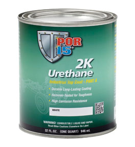 POR-15 2K Urethane Paint, Clear, Quart