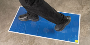 """RBL Products, Inc. Spray Booth / Mixing Room Walk-On Tacky Mats 24"""" x 36"""" Replacement pad (30 Mats/Pad)"""