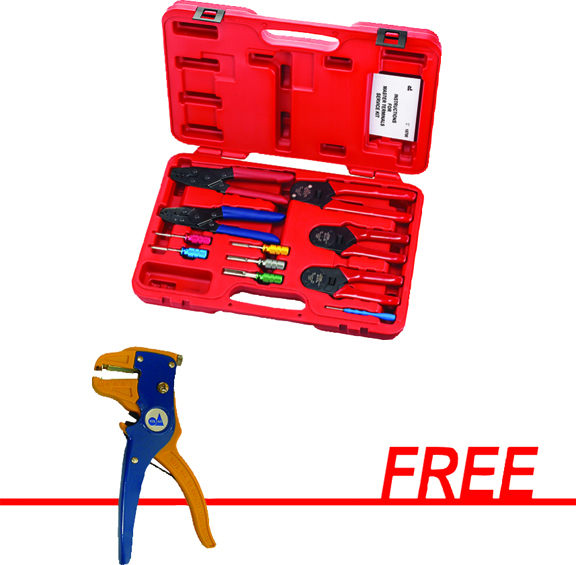S & G Tool Aid Master Terminals Service Kit with FREE Wire Stripper