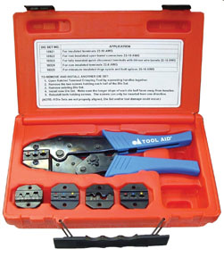 S & G Tool Aid Ratcheting Terminal Crimper Kit