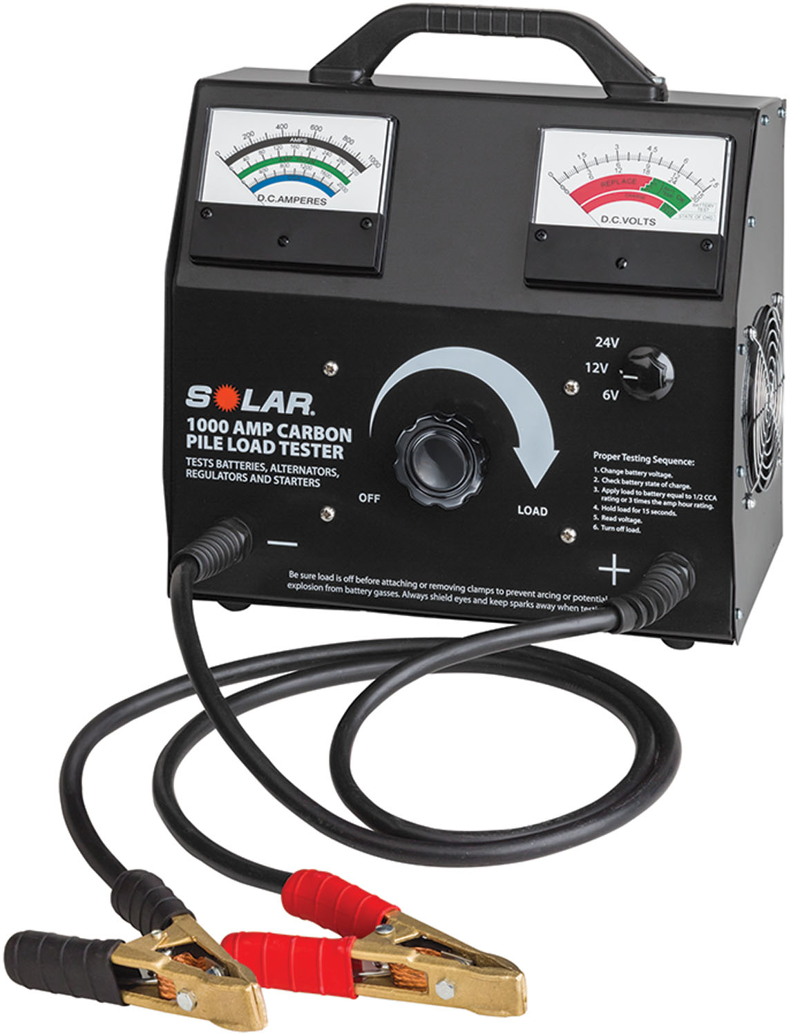 Solar 1000 Amp Variable Load  Carbon Pile Tester