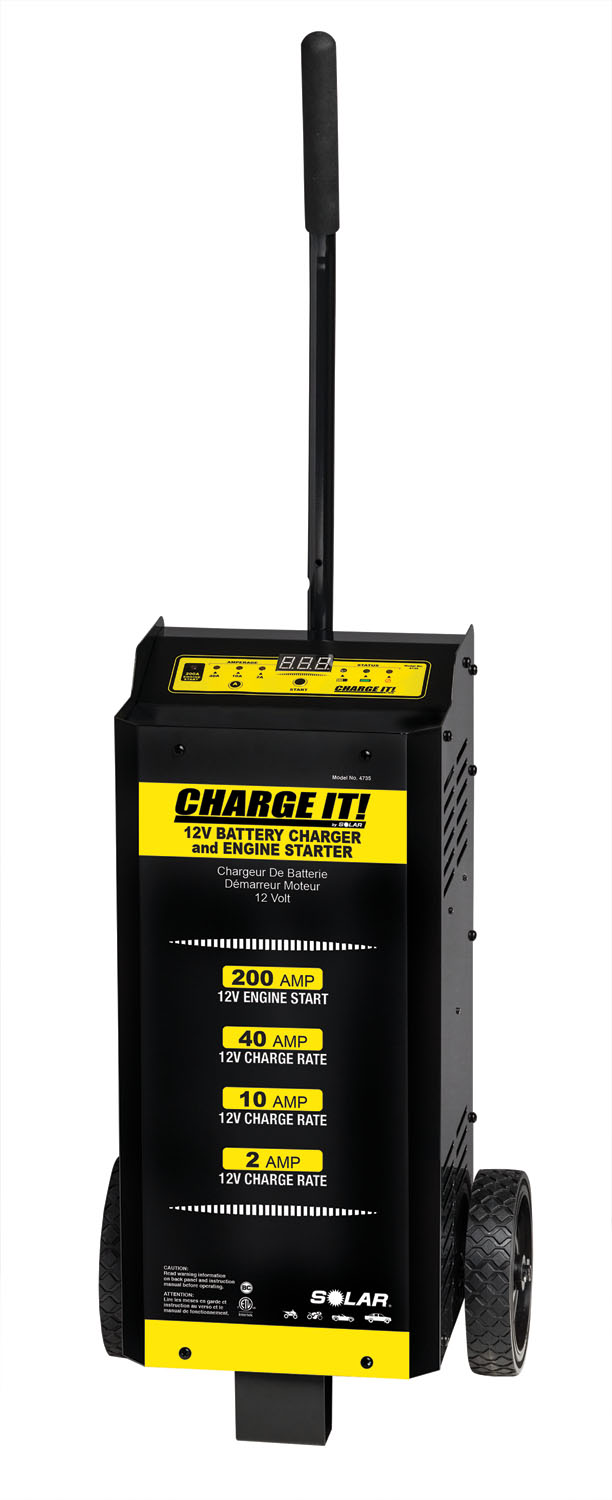 Solar 40/10/2/200 Amp 12 Volt Wheeled Battery Charger