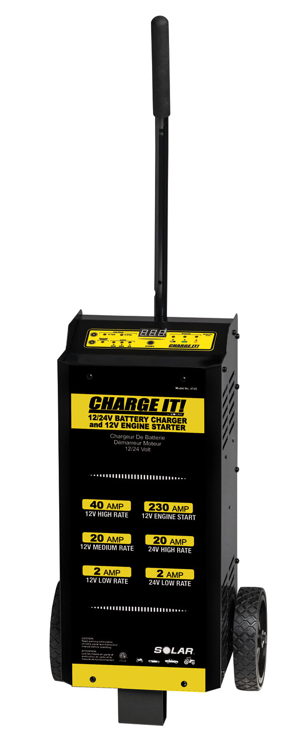Solar 12/24V 4020/2/230A Wheel Charger with Engine Start