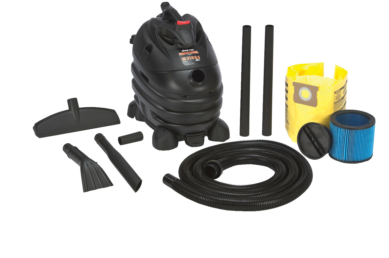 Shop-Vac 6.5 Peak HP Contractor, Portable with Dolly, Automotive Professional, 10 Gal