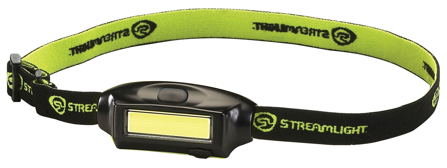 Streamlight Bandit with Hat Clip, USB Cord and Elastic Headstrap, Black