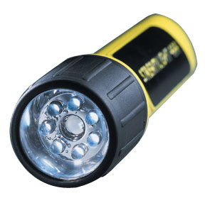 Streamlight 4AA LED with White LEDs and Alkaline Batteries - Yellow