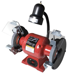 """Sunex Tools 6"""" Bench Grinder with Light"""