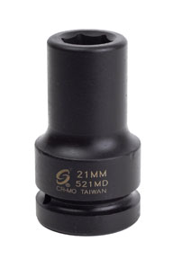 "Sunex Tools 1"" Dr Deep Impact Socket, 21mm"
