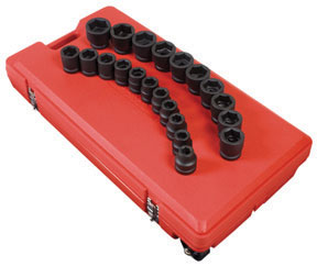 "Sunex Tools 1"" Dr SAE Impact Socket Set, 21Pc"