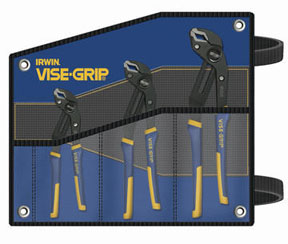 IRWIN VISE-GRIP 3 Pc. GrooveLock Pliers Set with Kitbag