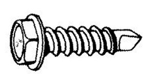 """W & E Fasteners #10 X 1/2"""" Zinc Plated Unslotted Hex Washer Head Self Drilling & Self Tapping"""