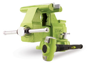 "Wilton B.A.S.H® Special Edition 6.5"" Utility Bench Vise and B.A.S.H® Sledge Hammer"