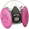 3M Company Half Facepiece Respirator Packout 07182, Medium, with Particulate Filters PN 07184, P100