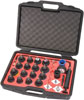 9 Circle 24 Piece Cooling System Pressure Tester with Pump