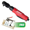"""AIRCAT 3/8"""" Composite Twin Pawl Ratchet w/FREE 10 Pc. Air Accessory Kit"""