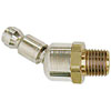 "Acme Automotive 1/4"" Body Size, 1/4"" MPT - Automotive Interchange, Ball Swirl Connector"