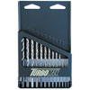 Irwin Hanson 13 Pc. High Speed Steel Drill Bit Set with Turbo Point Tip and Metal Index Case