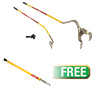 AME International Golden Buddy Tire Changing System w/free  Big Buddy Bead Breaker Slide Hammer