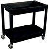 Astro Pneumatic Heavy Duty Plastic 2-Shelf Utility Cart, Black