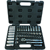 """ATD Tools 47 Pc. 3/8"""" Drive 6 Point SAE and Metric Pro Socket Set"""