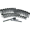 "ATD Tools 3/8"" Drive 12-Point Socket Set, 47 Pc"