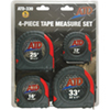 ATD Tools 4 Piece SAE  Tape Measure Set