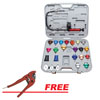 ATD Tools 25Pc Master Cooling System Pressure Test Kit w/FREE Heavy-Duty Ratchet Hose Cutter