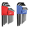 ATD Tools SAE Metric Long Arm Ball End Hex Key Set, 22pc