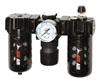ATD Tools Poly Filter, Regulator, Lubricator and Gauge Modular Unit with Manual Drain
