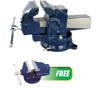 """ATD Tools 6"""" Professional Shop Vise with FREE Mini Vise"""