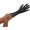Atlantic Safety Products Black Lightning Powder Free Nitrile Gloves, Large