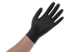Atlantic Safety Products Black Lightning Powder Free Nitrile Gloves, Medium