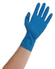 "Atlantic Safety Products Blue Lightning 12"" Powder Free Latex Gloves, Medium"