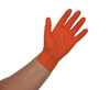 Atlantic Safety Products Orange Lightning Powder Free Nitrile Gloves, Small