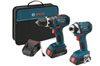 Bosch Power Tools 18V Cordless Lithium-Ion 1/2 in. Drill Driver and Impact Driver Combo Kit