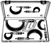 Central Tools Micrometer Set, 0-6""