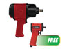 Chicago Pneumatic ¾¾ Impact Wrench w/FREE ½½ Stubby Impact Wrench